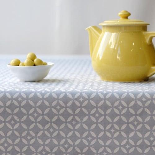 Coton enduit motif mosaïque © Fleur de Soleil