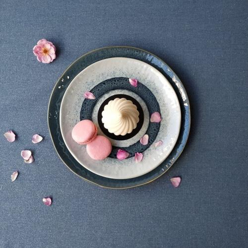 Coton enduit pailleté marine © Fleur de Soleil