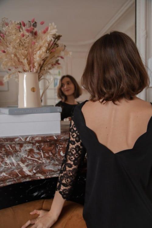 Patron robe ou blouse festonnée Lola - Apolline Patterns