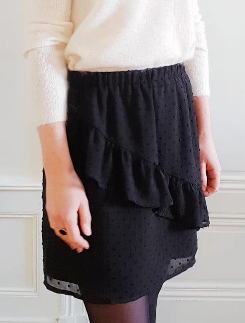 Kit couture jupe Peach plumetis noir - Joli Lab