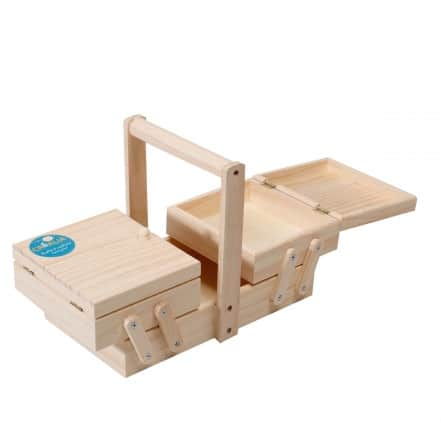 Petite boite à couture en bois - Cultura