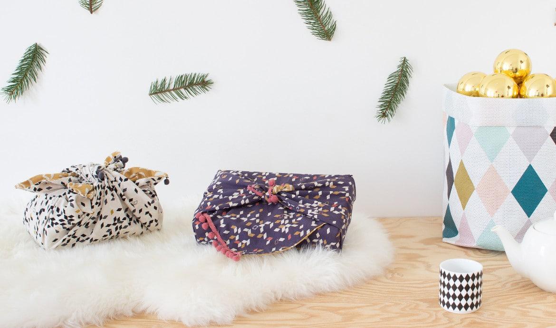 DIY emballage cadeau en tissu - Heju