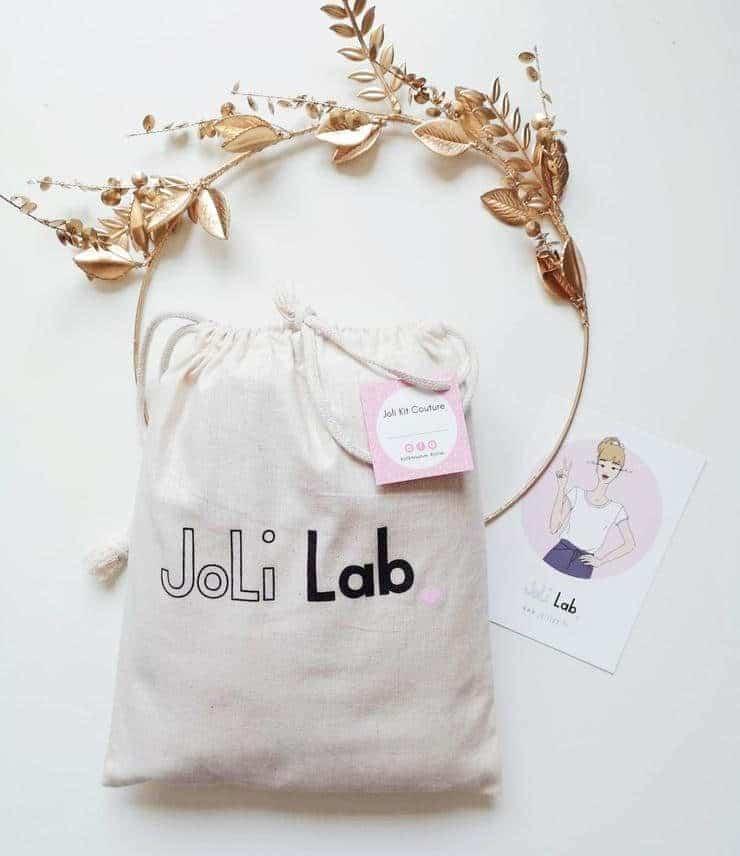 Pochon et kit prêt à coudre Joli Lab