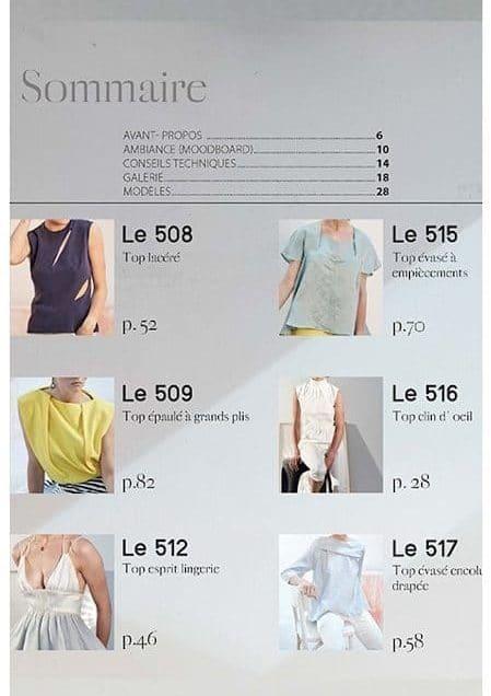 Sommaire du livre fashion couture de DP Studio