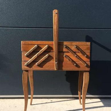 Travailleuse en bois vintage - Selency