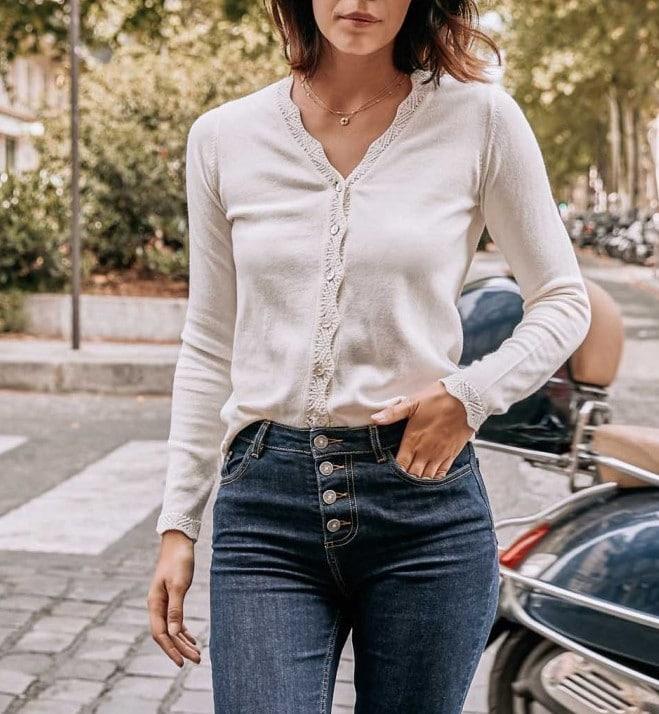 Cardigan Annie en coton bio - Balzac Paris