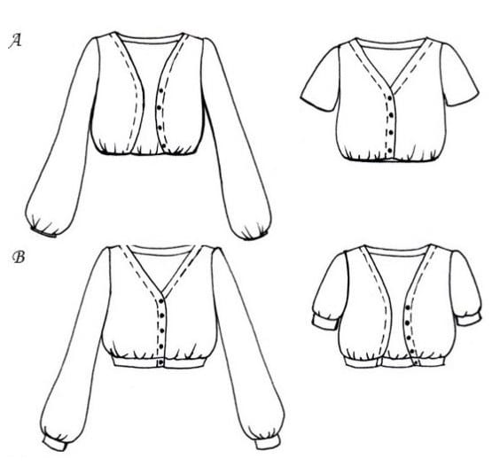 Patron gilet Sauge - Anna Rose Patterns