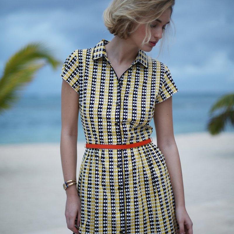 Patron gratuit robe chemise La Droguerie x Marie-Claire Idées