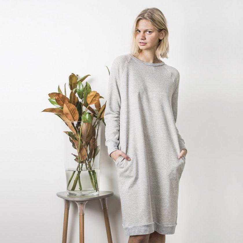 """Patron gratuit robe sweat """"jersey dress"""" de Peppermint magazine x In the Folds"""