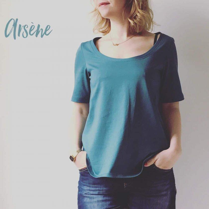 T-shirt Arsene - Josephine sans Marcelle - patron gratuit Chez Machine