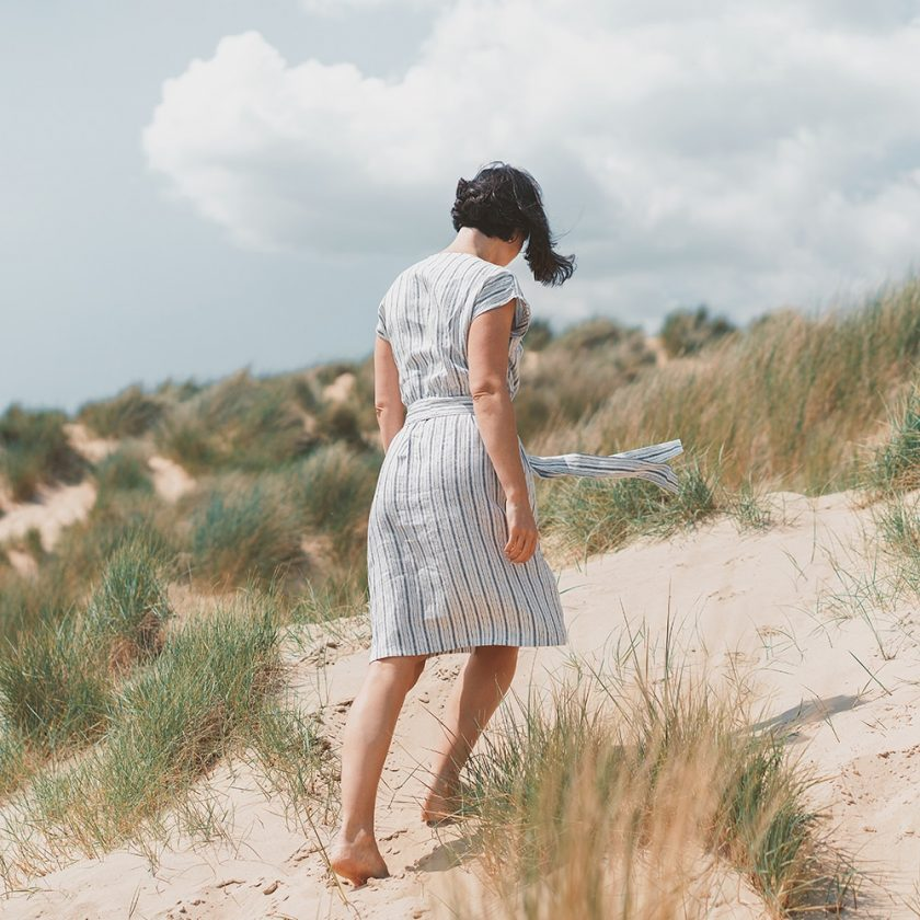 Patron gratuit robe cache-ceour Luciana - Fabrics Store