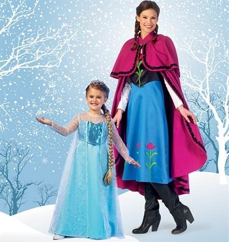 Patron Elsa et Anna Reine des Neiges - Mc Call's