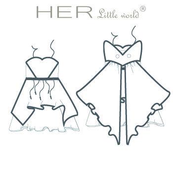 Dessin technique robe de fée Eternelle - Patron Her Little World