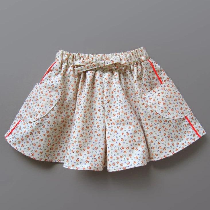 Tuto gratuit jupe culotte sans patron - Misusu patterns