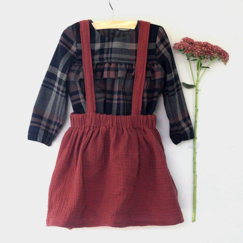 Patron gratuit jupe à bretelles fille Madeline - Iris May