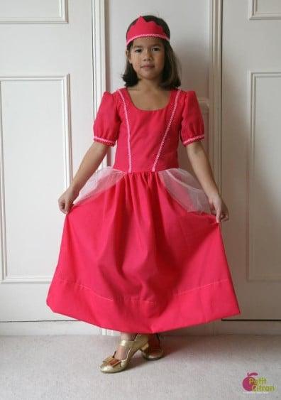 Patron gratuit robe de princesse - Petit citron