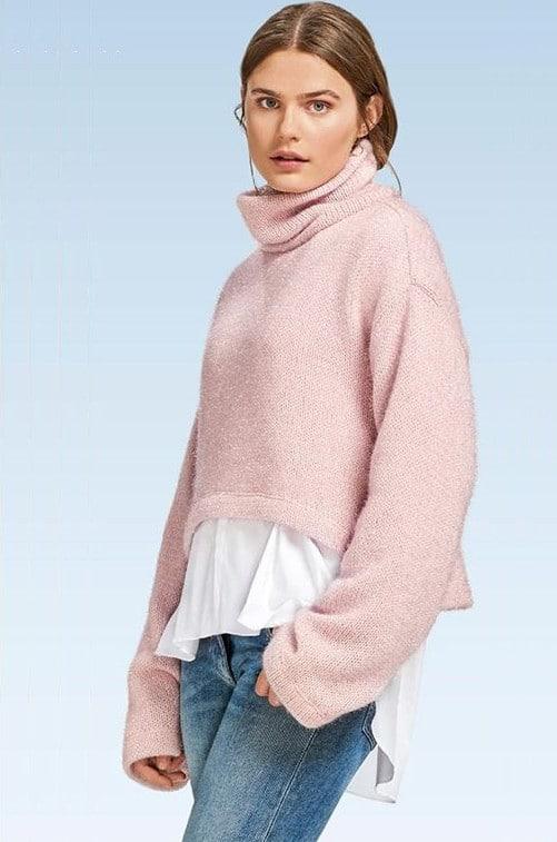 Patron pullover facile n°6476 - version courte - Burda Young