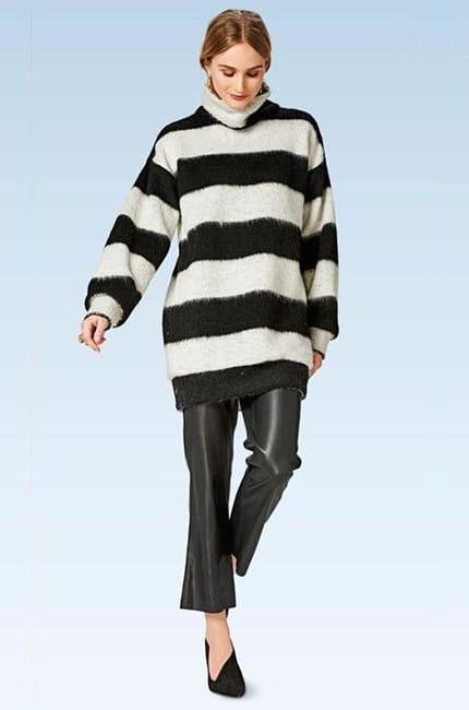 Patron pullover facile n°6476 - version longue - Burda Young