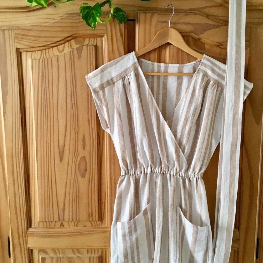 Patron gratuit robe cache-ceour Luciana - Fabrics Store - @lisa_knitknit