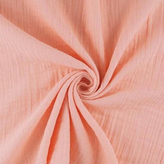 Toile à drap en gaze de coton rose - Mondial Tissus