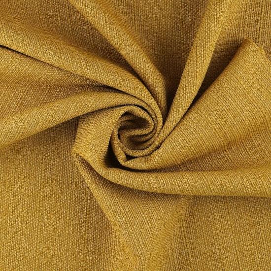 Tissu anti-tâches jaune moutarde