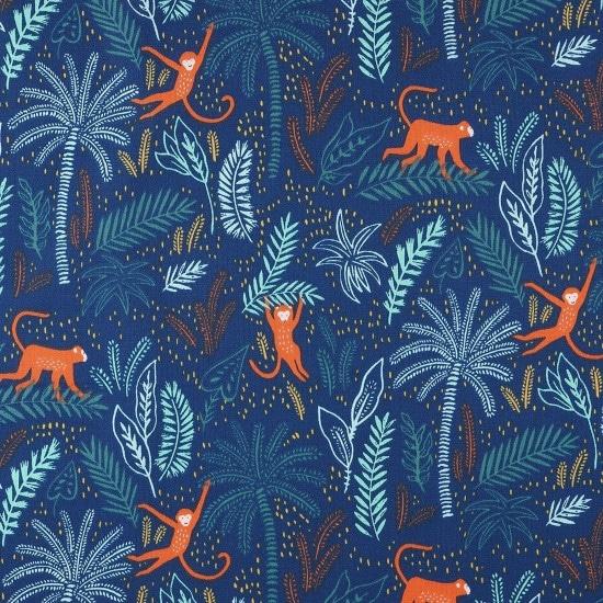 Tissu coton jungle Mondial Tissus
