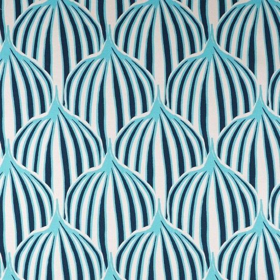 Bachette de coton imprimé lotus bleu