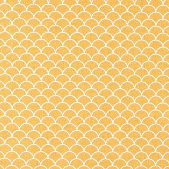Tissu coton jaune écailles - Mondial Tissus