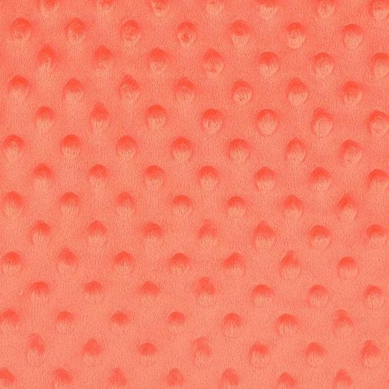 Tissu polaire minky corail - Mondial Tissus
