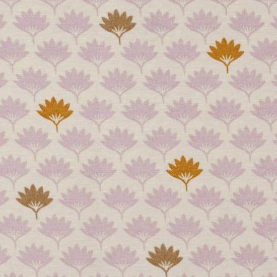 Tissu ottoman éventails rose - Mondial Tissus