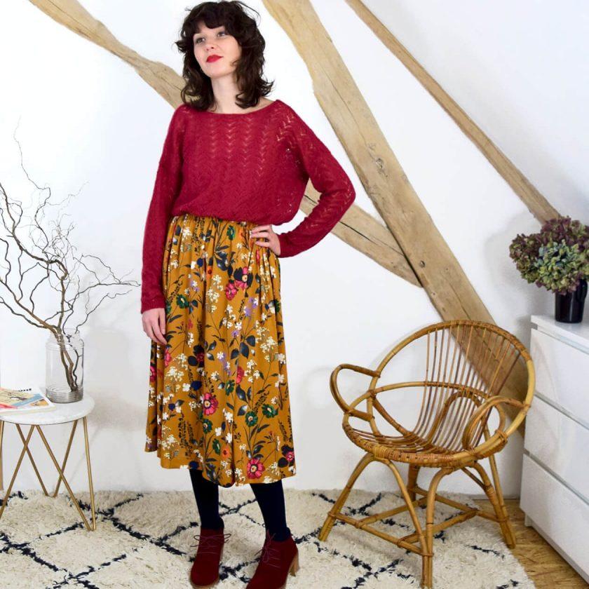 Tuto couture jupe élastiquée - Cousette