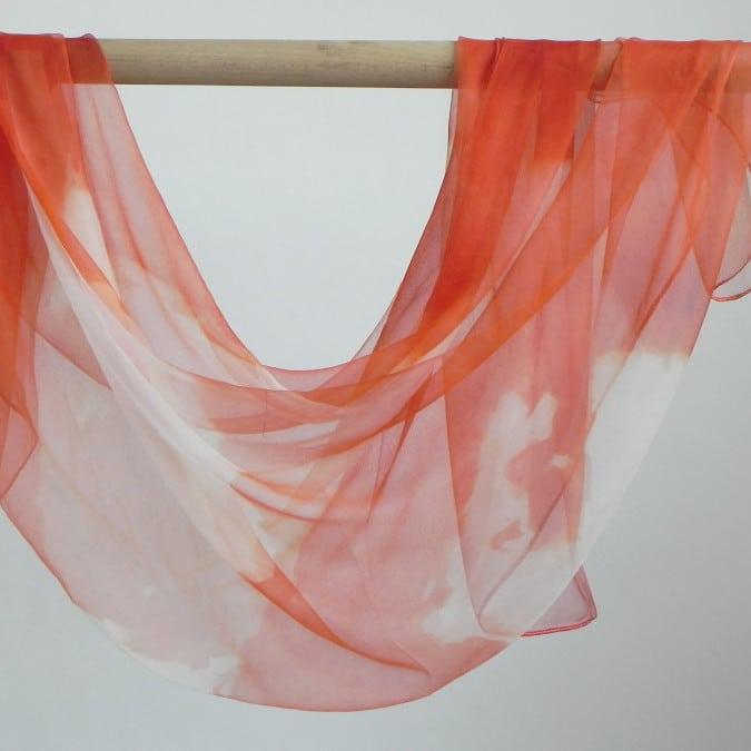 Mousseline de soie garance - teinture naturelle - Rézéda