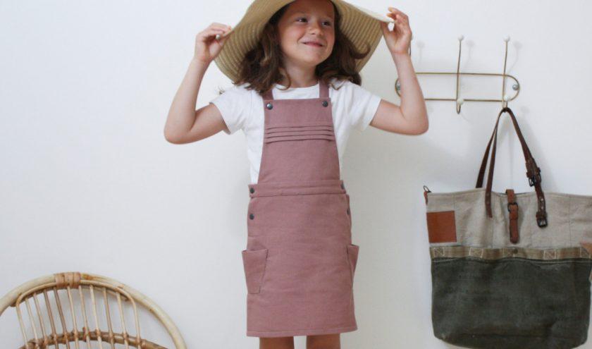 Patron robe salopette Elissaure enfant - Rose des Vents