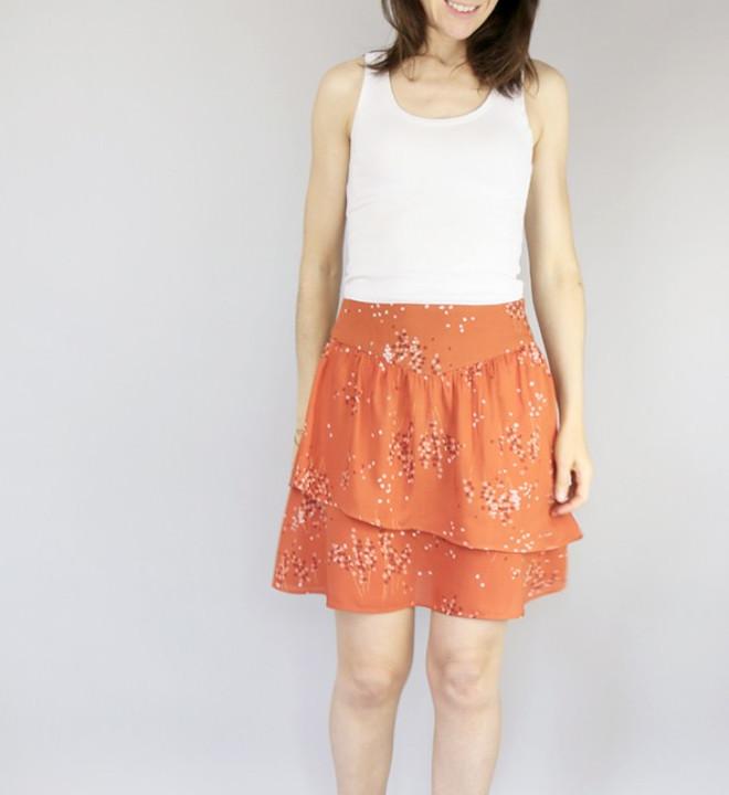 Patron jupe Charme orange - Atelier Scammit