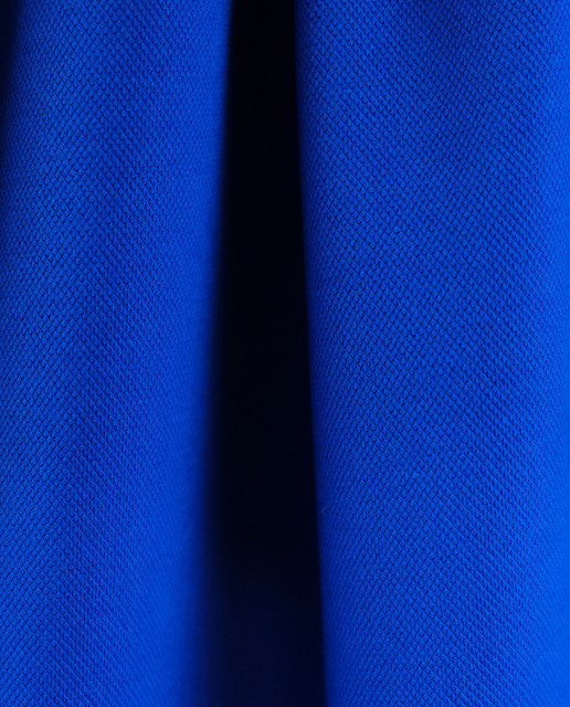 maille polo bleu roi - Mercerine