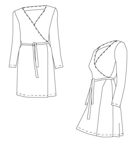 Patron de robe cache-coeur en jersey - Azilys de Coralie Bijasson