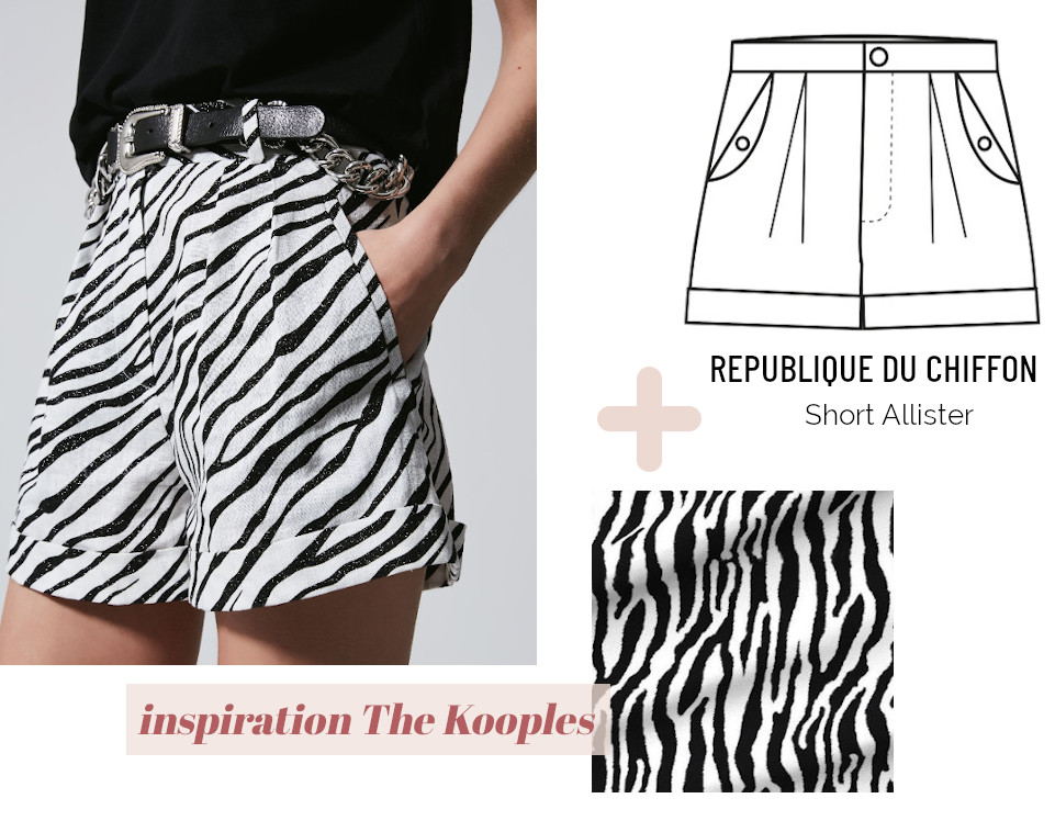 Look short zébré - The Kooples