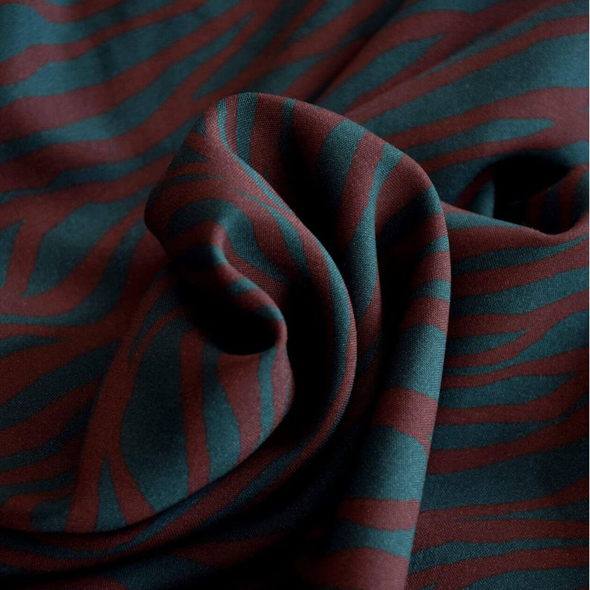 Tissu viscose zebra Cousette