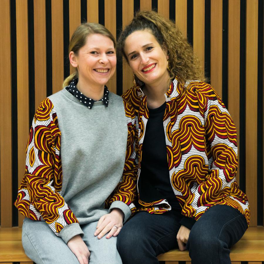 Jessica Amélie, les auteures du livre Couture Wax