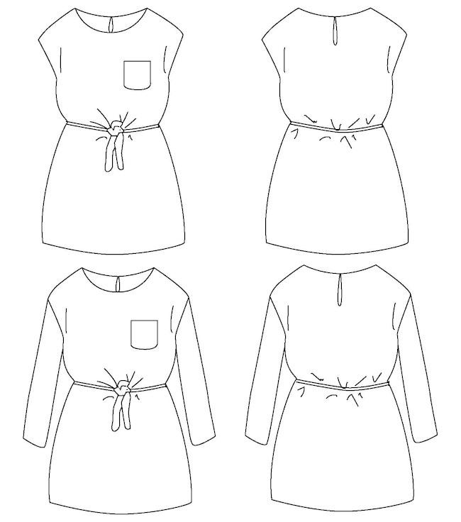 Patron robe été fille Corfou - IKatee
