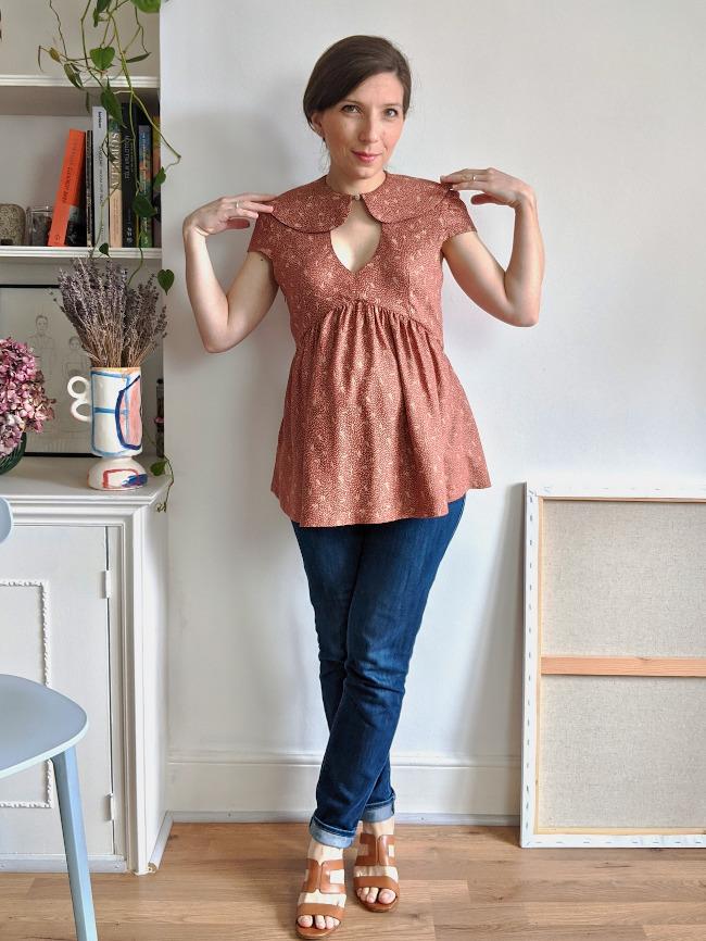 Patron blouse femme enceinte Paulette - Camimade