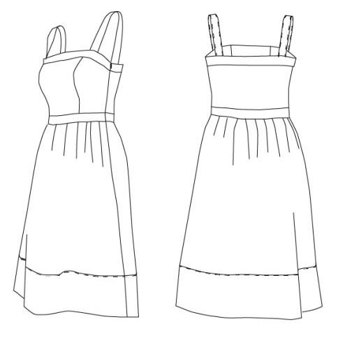 Patron robe Aurélie - Coralie Bijasson