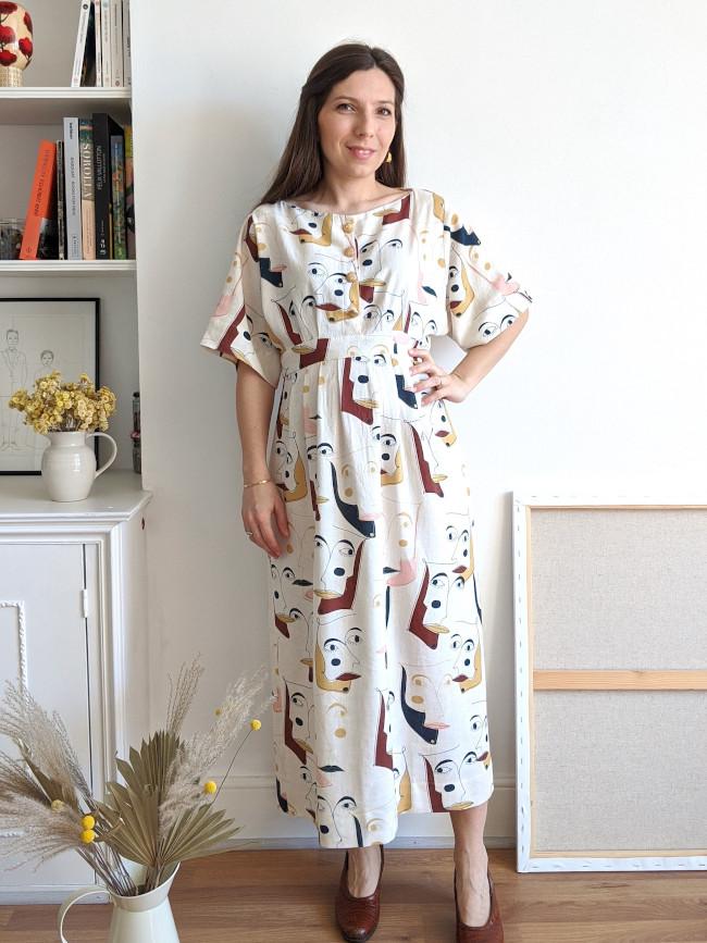 Patron robe Colette - femme enceinte - Camimade