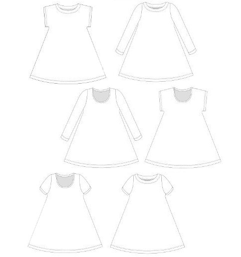 Patron robe jersey Yzia - L'Usine à Bulle