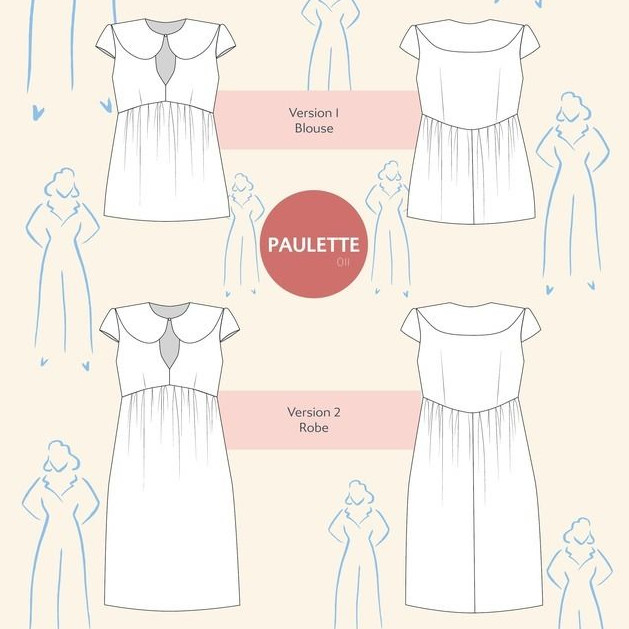 Patron robe Paulette - Camimade
