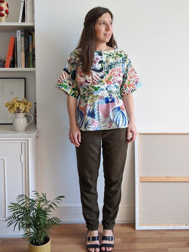 Patron blouse Colette - femme enceinte - Camimade
