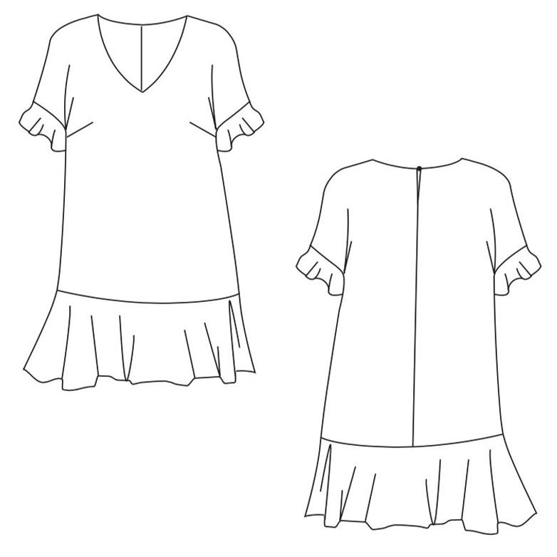 Patron robe Cosy - Pretty Mercerie