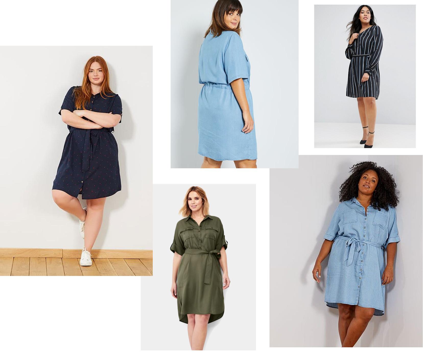 Tendance couture robe liquette pour les femmes rondes