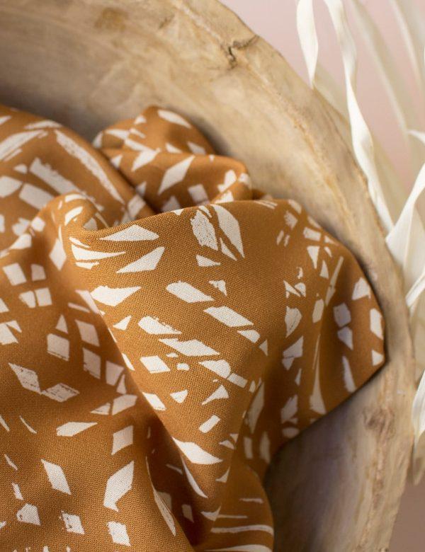 Tissu viscose shade ochre Atelier Brunette