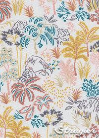Tissu Mahonia Cayenne - Stragier - collection UNE